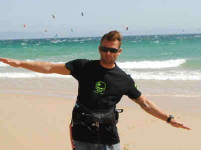 Team of our kite school in Tarifa